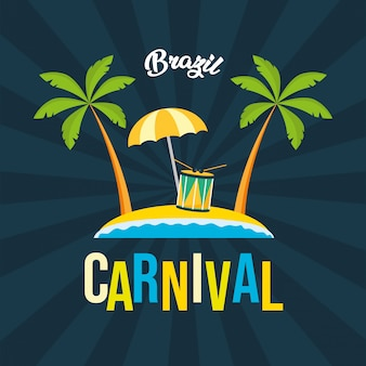 Fond de fête de carnaval du brésil