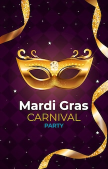Fond de fête de carnaval de mardi gras. illustration