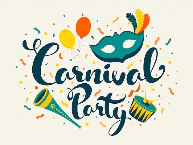 Fond de fête de carnaval.