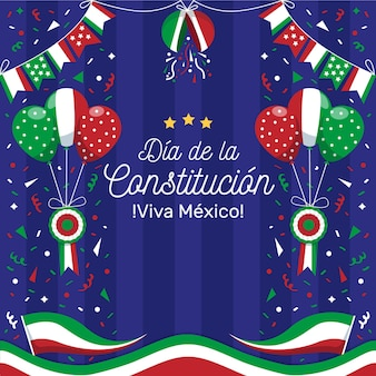 Fond de fête de la constitution du mexique