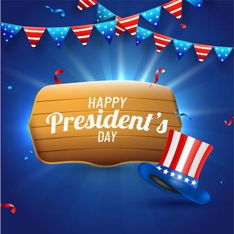 Fond de fête du président heureux.