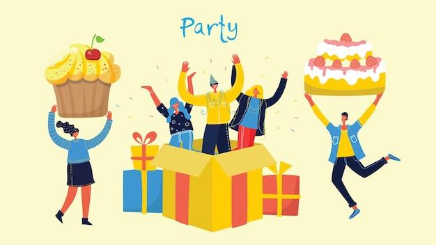 Fond de fête. heureux groupe de personnes sautant sur un fond clair.