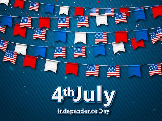 Fond de fête de l'indépendance américaine