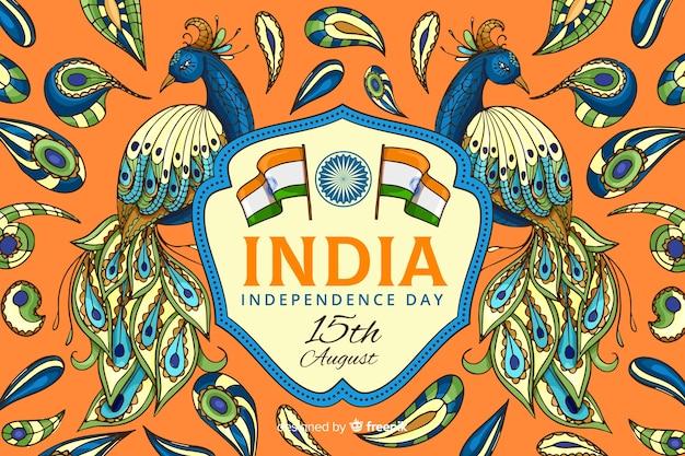 Fond de fête de l'indépendance décorative indienne