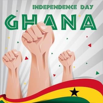 Fond de la fête de l'indépendance du ghana