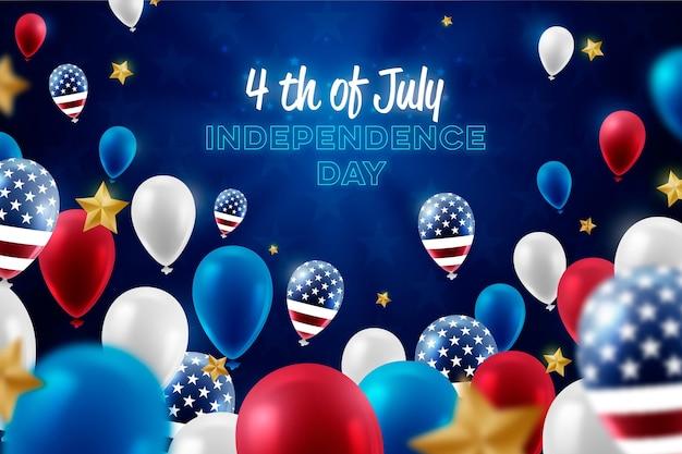 Fond de fête de l'indépendance des états-unis réaliste