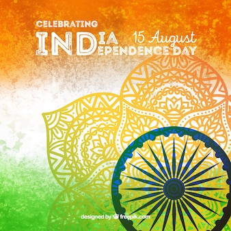 Fond de la fête de l'indépendance indienne créative