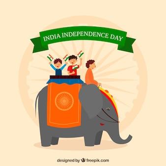 Fond de la fête de l'indépendance indienne