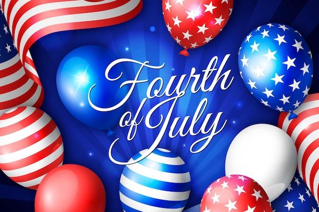 Fond de fête de l'indépendance réaliste