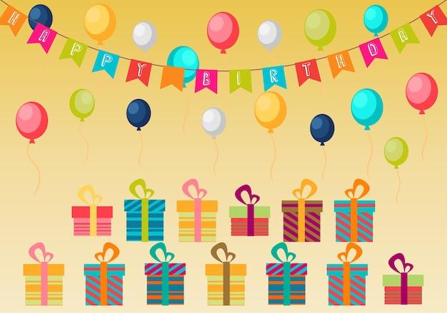 Fond de fête joyeux anniversaire