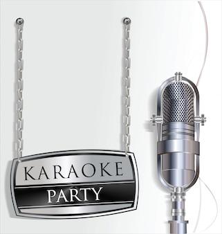 Fond fête karaoké