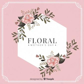 Fond de fête des mères cadre floral