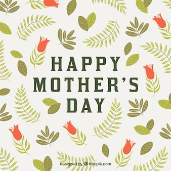Fond de fête des mères avec des fleurs