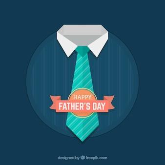 Fond de fête des pères avec une cravate