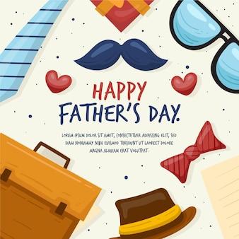 Fond de fête des pères dessiné à la main