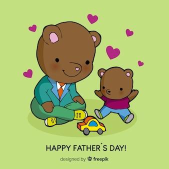 Fond de fête des pères dessinés à la main