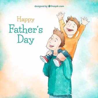 Fond de fête des pères avec une famille heureuse