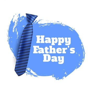 Fond de fête des pères heureux avec cravate réaliste