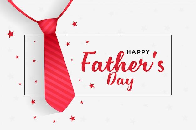 Fond de fête des pères heureux avec cravate rouge