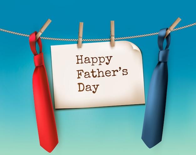 Fond de fête des pères heureux avec deux liens. .