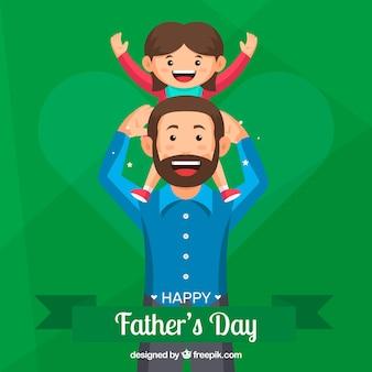 Fond de fête des pères heureux avec la famille