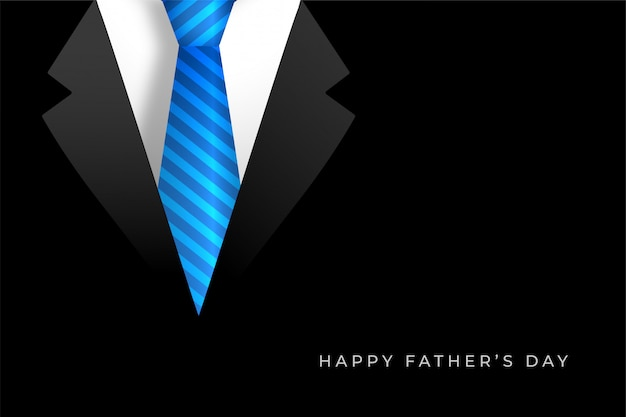 Fond de fête des pères heureux avec manteau et cravate