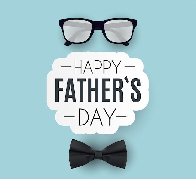 Fond de fête des pères heureux. meilleure illustration de papa