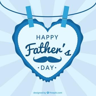 Fond de fête des pères avec une lettre en forme de coeur