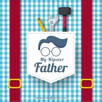 Fond de fête des pères avec motif de chemise