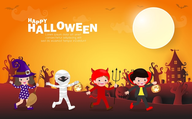 Fond de fête à thème halloween