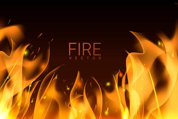 Fond de feu brûlant