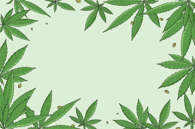 Fond de feuille de cannabis botanique