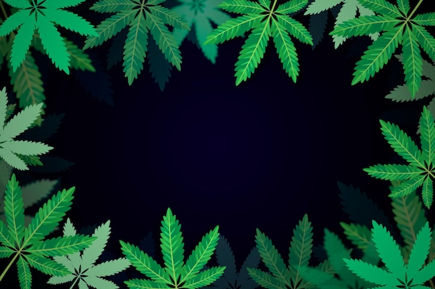 Fond de feuille de cannabis