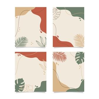 Fond de feuille de nature minimaliste abstrait earthtone