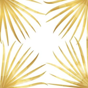 Fond de feuille de palmier d'or.