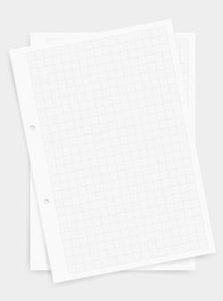 Fond de feuille de papier graphique avec motif de grille.