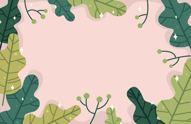 Fond de feuille verte avec éclat