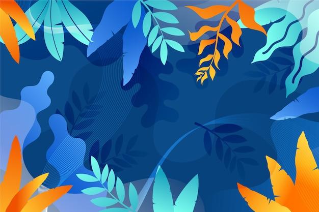 Fond de feuilles abstraites