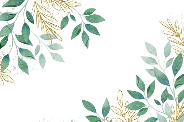 Fond de feuilles aquarelle créative