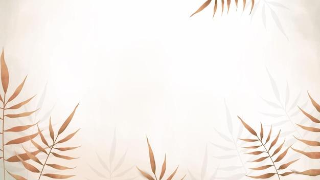 Fond de feuilles d'aquarelle