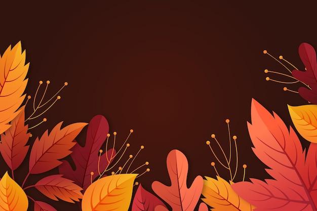 Fond de feuilles d'automne dégradé