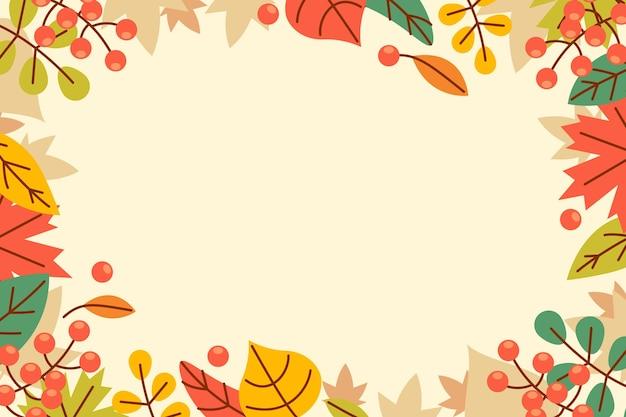 Fond de feuilles d'automne plat