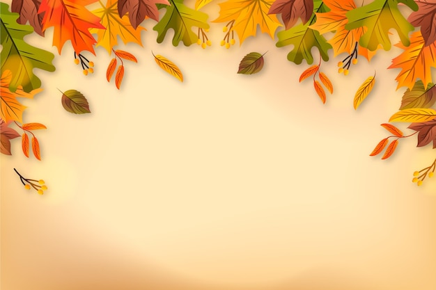 Fond de feuilles d'automne réaliste