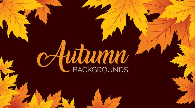 Fond de feuilles d'automne