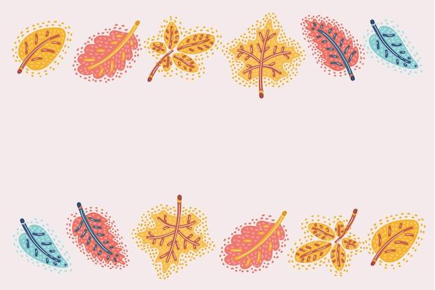 Fond de feuilles colorées automne automne