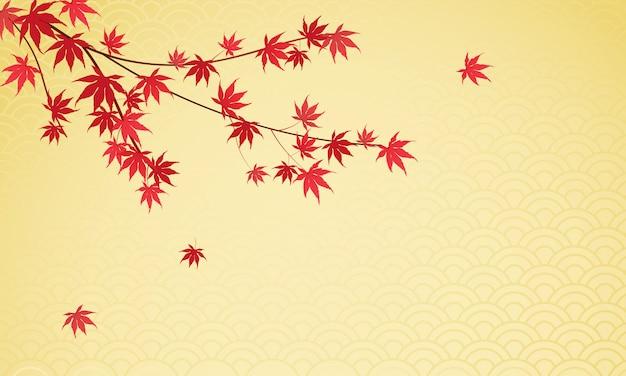 Fond de feuilles d'érable japonais