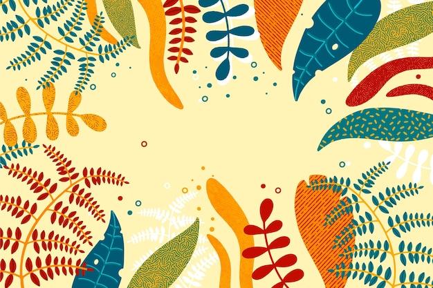 Fond de feuilles d'été tropical abstrait