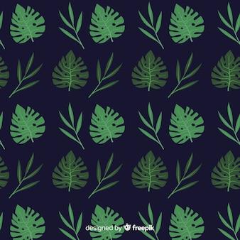 Fond de feuilles de monstera plat