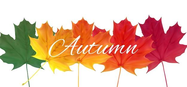 Fond de feuilles naturelles d'automne brillant. illustration vectorielle eps10