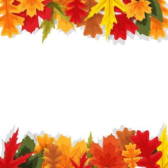 Fond de feuilles naturelles d'automne
